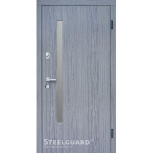 Входные двери  AV-1 Стилгард (Steelguard) GREY GLASS улица в Киеве со склада