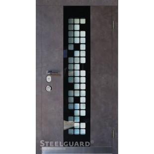 Входные двери Стилгард (Steelguard) Manhattan Grey Light серии Maxima улица в Киеве