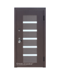 Входные двери Milano Стилгард (Steelguard) двухцветная