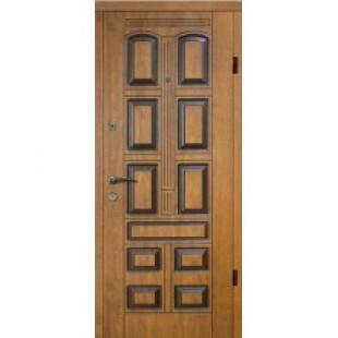 Входная дверь Элит 305 Улица дуб золотой+Патина снаружи